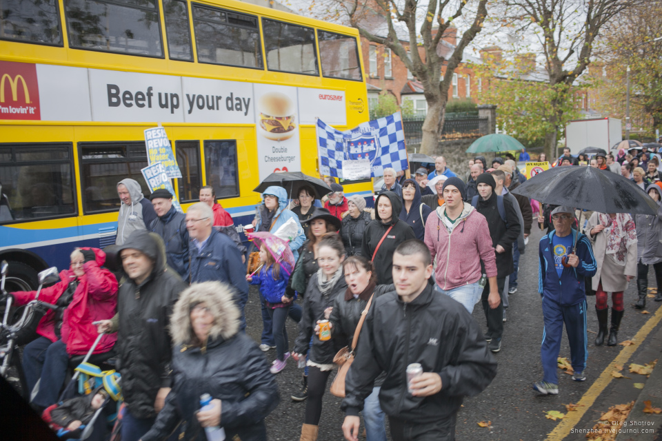 Dublin water protest crowd inchicore