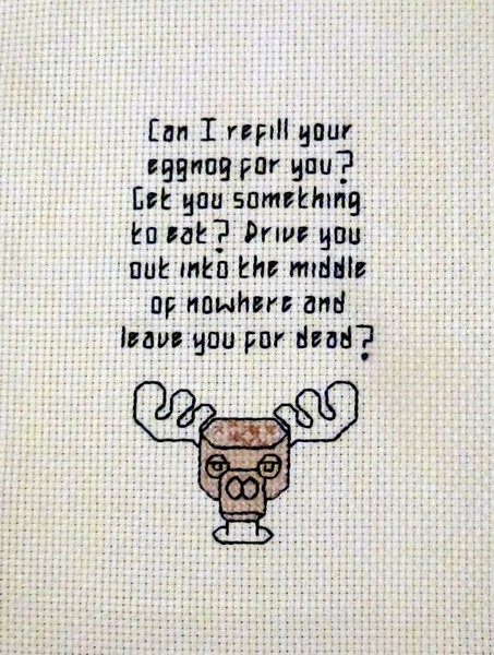 Christmas Vacation Rant.Clark Griswold S Eggnog Rant Cross Stitch Christmas Vacat