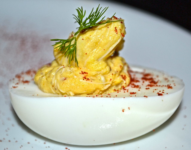 Cook Hall Atlanta - DEVILED EGGS WITH GULF BLUE CRAB