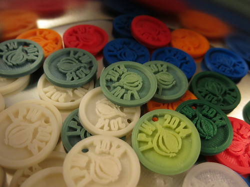 LPW 2014 tokens, colours