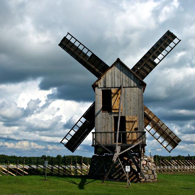 Angla Windmill Hill, Saaremaa, Estonia