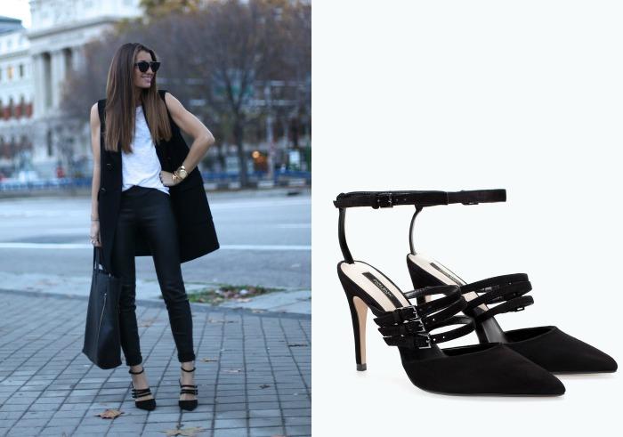 zapatos negros tiras zara