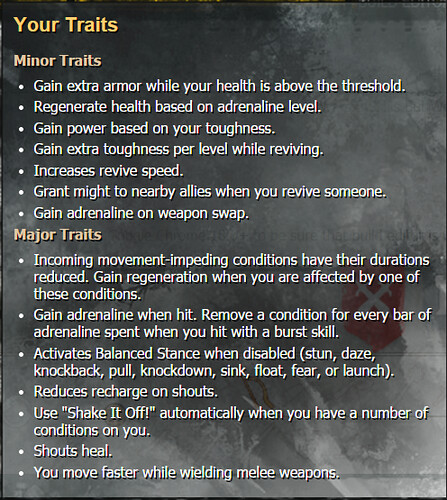 GW2 Warrior traits PvP v2