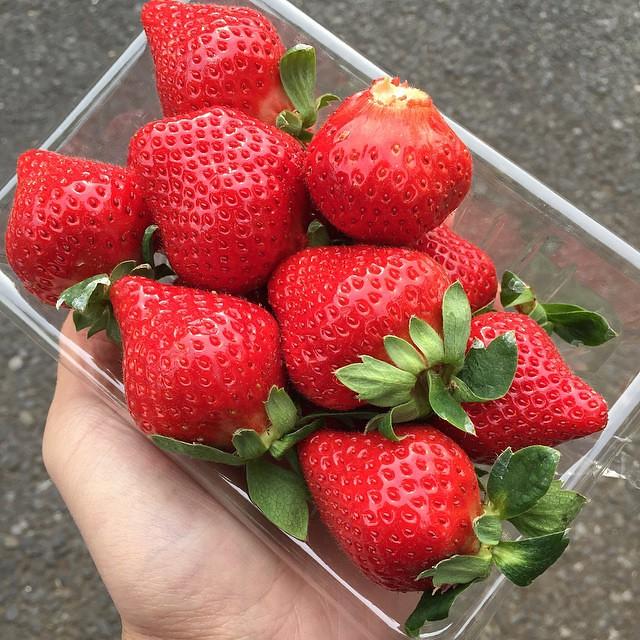 一定要吃的草莓…