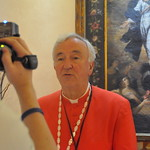Cardinal Vincent records his daily message