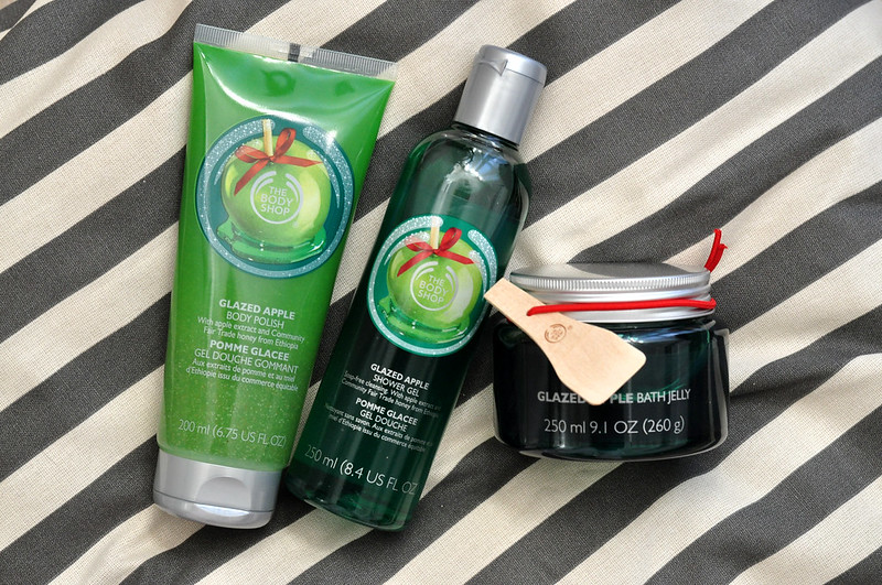 mini reviews the body shop glazed apple bath body products rottenotter rotten otter blog