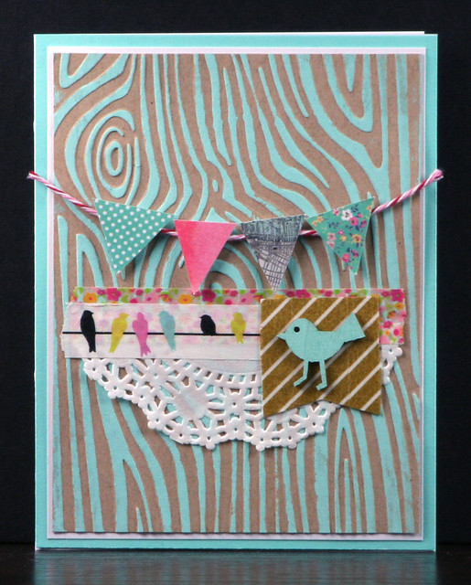 Embossed and Painted Background Card | shirley shirley bo birley Blog