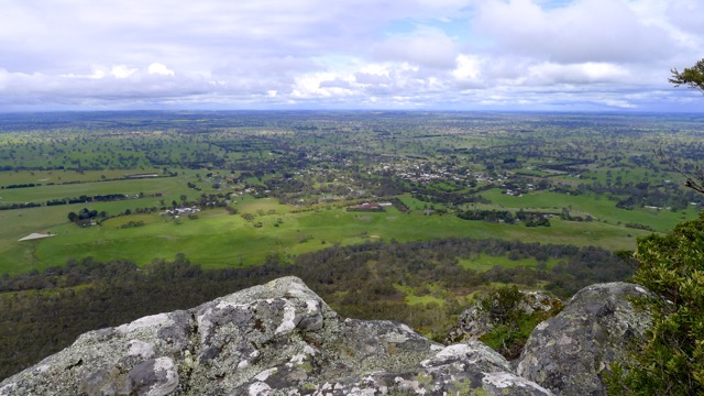 Dunkeld in spring from Mount Sturgeon
