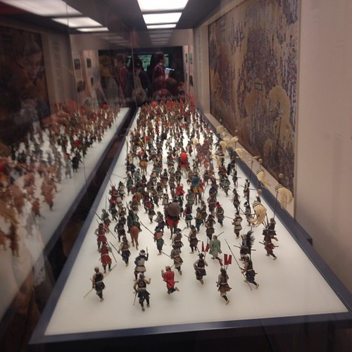 Osaka Castle - a battle scene with miniature figures