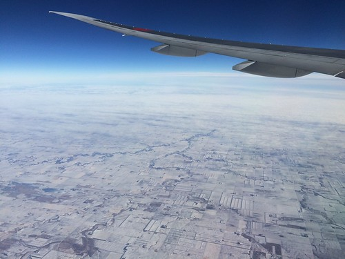 Somewhere over North Dakota (ANA 777-300ER NRT-ORD)