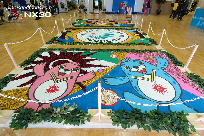 samsung incheon athletes village mascot art