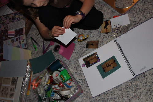 Working on 4-H project