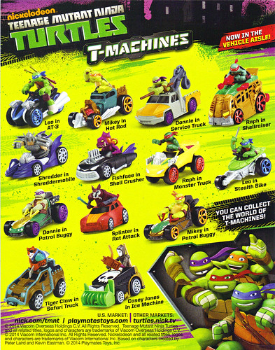 "Nickelodeon  TEENAGE MUTANT NINJA TURTLES :: ""T-MACHINES; 'YOU CAN COLLECT THE WORLD - -""  (( 2014 ))"