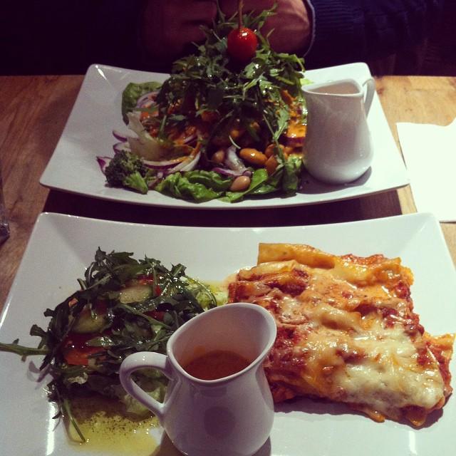Veggokökets lasagne som serveras på Global Living i Västerås är så god! #vadveganeräter