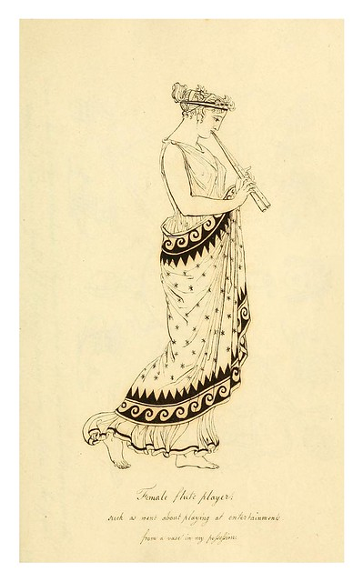 007-Mujer griega tocando la flauta-Costume of the ancients-1812-Thomas Hope
