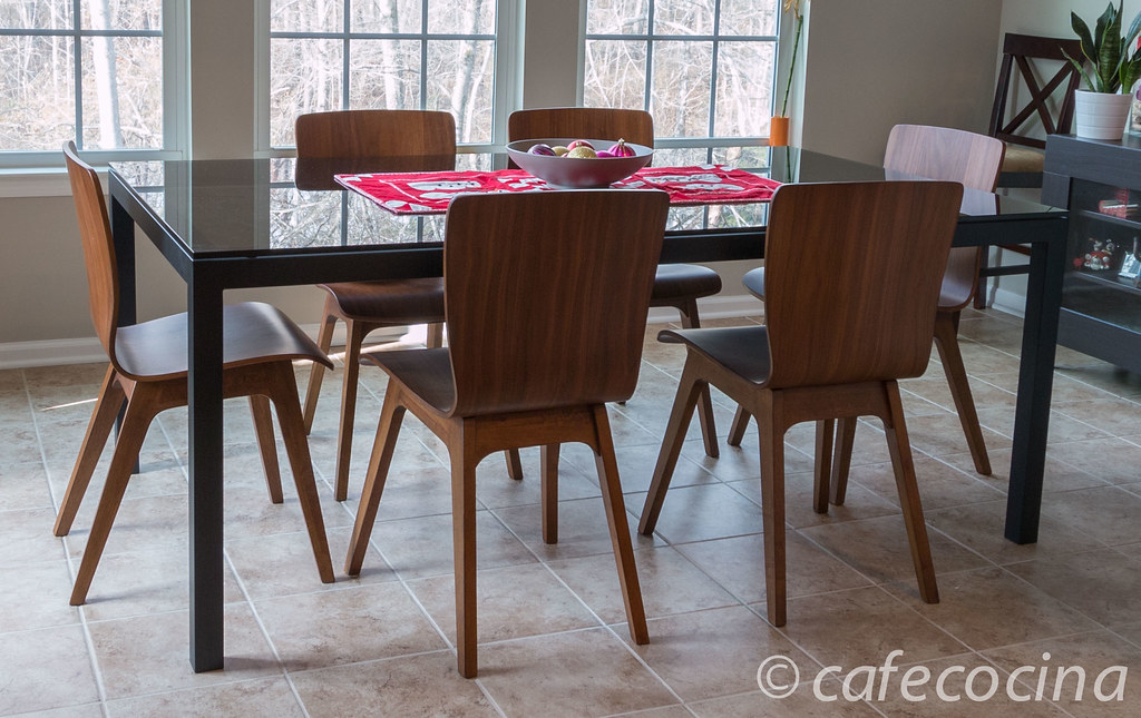 Parsons Gray Glass Dining Table