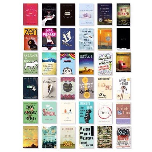 Second half of the year in books. I still have a week to go, but I really like the perfect 6x6 grid. #goodreads #books