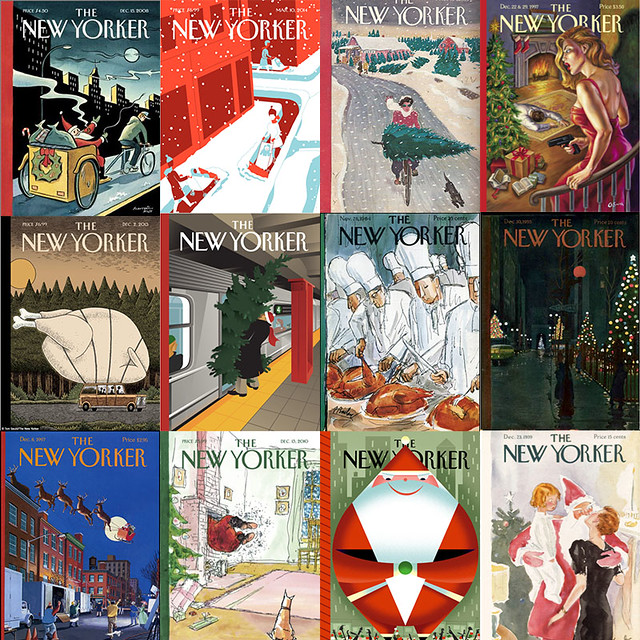 mosaïque New Yorker Christmas Covers
