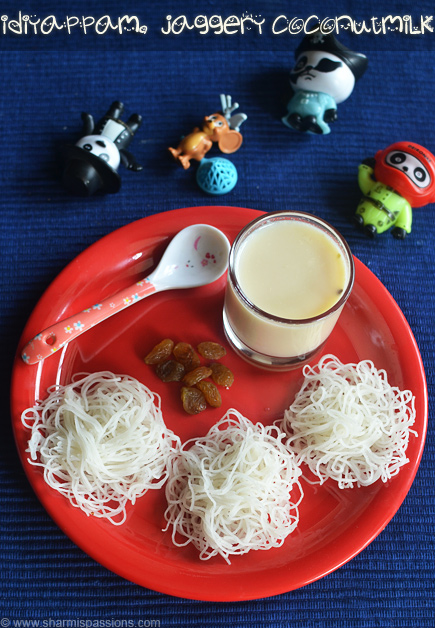 Idiyappam, Coconut Milk