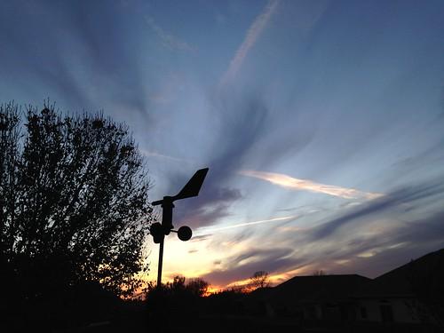 Winter sunset before arctic airmass arrives.