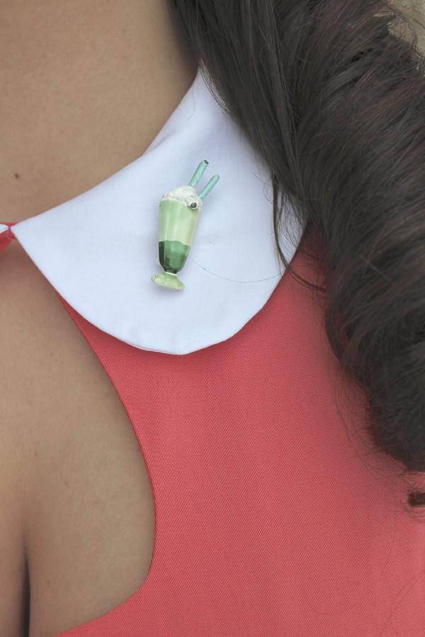 milkshake brooch