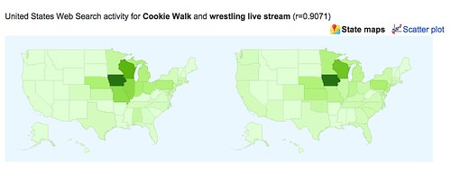 Google correlate map for cookie walks and wrestling live stream