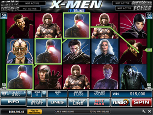 X-Men 50 Line slot game online review