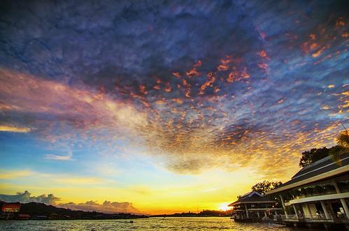 sunset brunei bandarseribegawan bruneilandscapiers openshutterbrunei