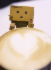 Danbo and cafe latte