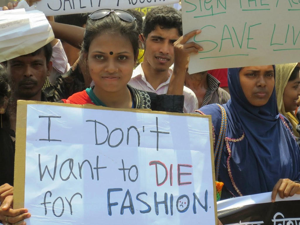 Thousands of garment workers and their unions rally on the one-year anniversary of the Rana Plaza collapse that killed more than 1,100 garment workers