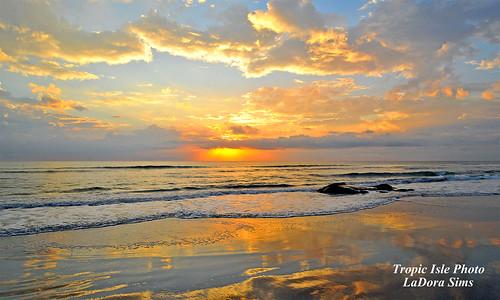 ocean sunset beach clouds sunrise dawn nikon florida satellite