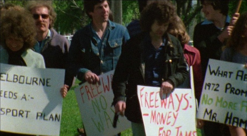 "Anti-freeway protest, from ""Mouth To Mouth"" (1978)"