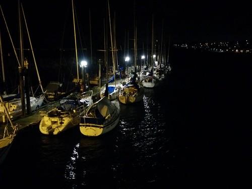 Sailboats at the White Rock pier