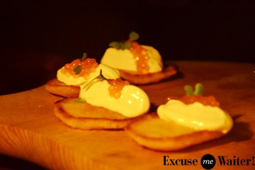 Calle to cavern pop up dining at emmilou surry hills for Funky canape trays