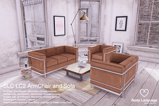 SLC LC2 ArmChair and Sofa