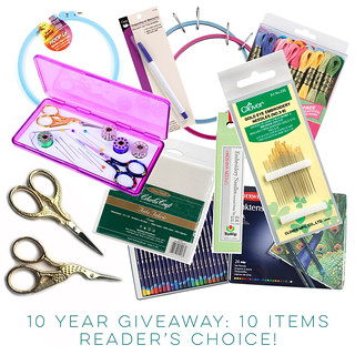 10 year Giveaway on Feeling Stitchy!