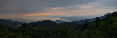 japan landscape volcanic smcpentaxda18135mmf3556edalifdcwr tachibanabay panorama sunset nitapass unzen mountains lake