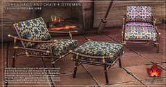 Trompe Loeil - Zohra Oasis and Chair + Ottoman for Uber June