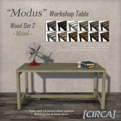 "For ""MIX"" Event"" ~ [CIRCA] - ""Modus"" - Industrial Table - Wood Set 2 - Mixed"