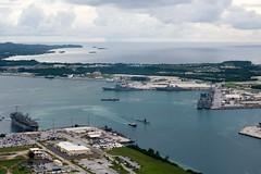 160926-N-NT265-089 APRA HARBOR, Guam (Sept. 26, 2016) Ships from Carrier Strike Group Five including, USS Barry (DDG 52), USS Benfold (DDG 65), USS Chancellorsville (CG 62), USS Curtis Wilbur (DDG 54), USS McCampbell (DDG 85) as wells as USS Stethem (DDG