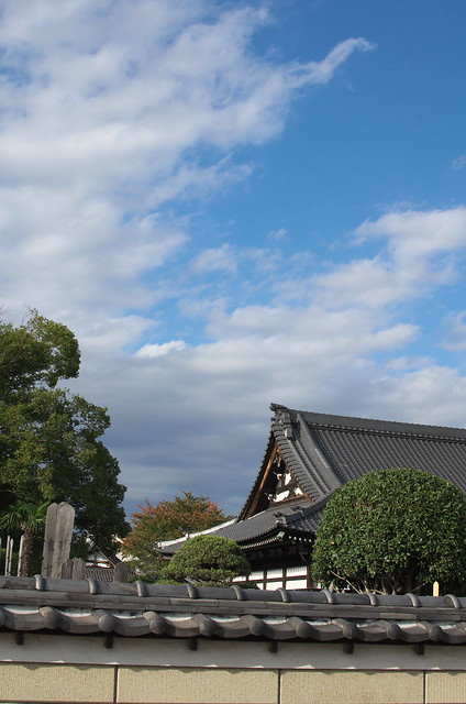 東京路地裏散歩 谷中の空 2014年11月3日