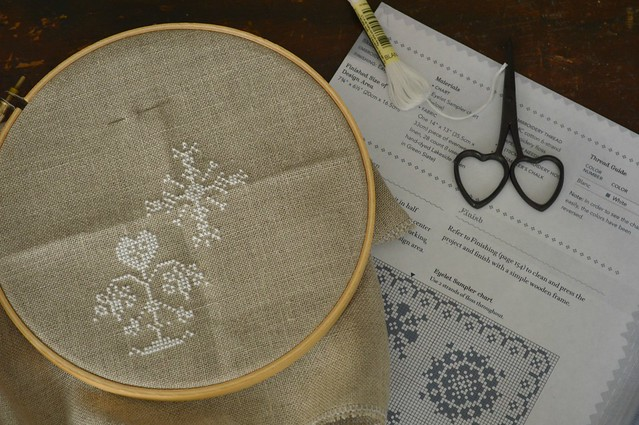 Upclose White Cross Stitch