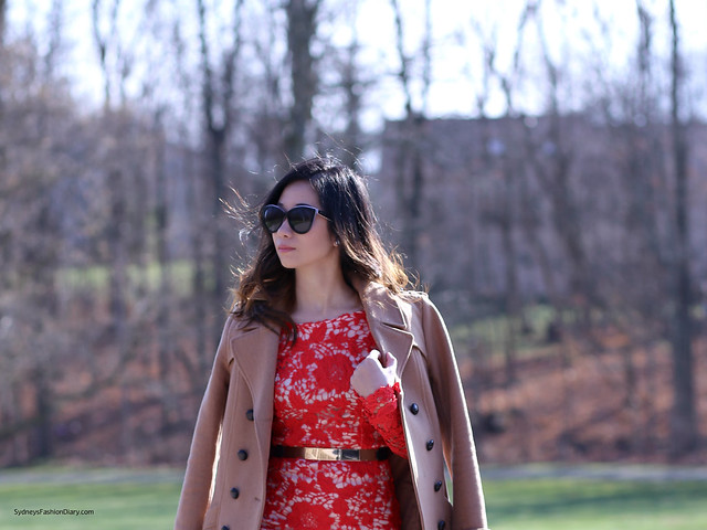 SydneysFashionDiary_Red Lace Dress