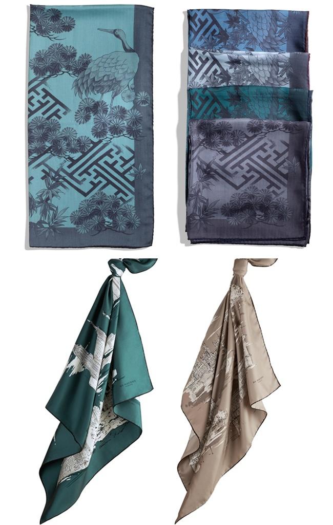 3 silkscarfs