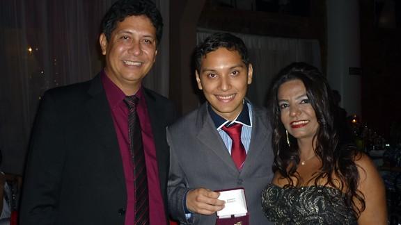 Carlos, Frederico e Iêda Ribeiro