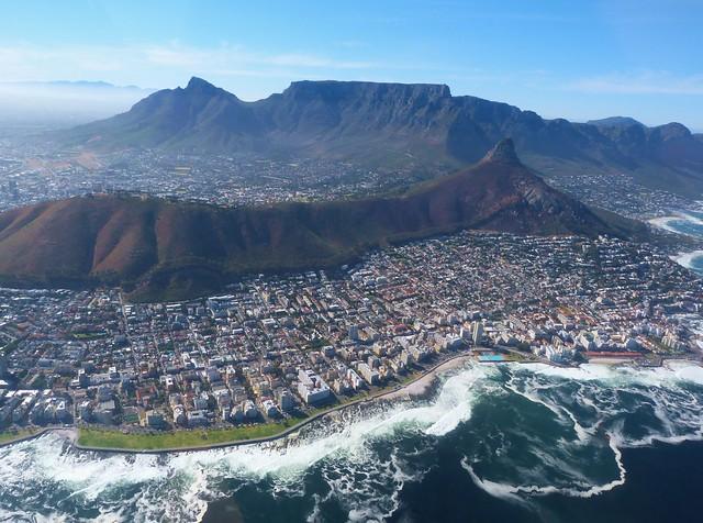Foto aérea de Ciudad del Cabo (Sudáfrica)