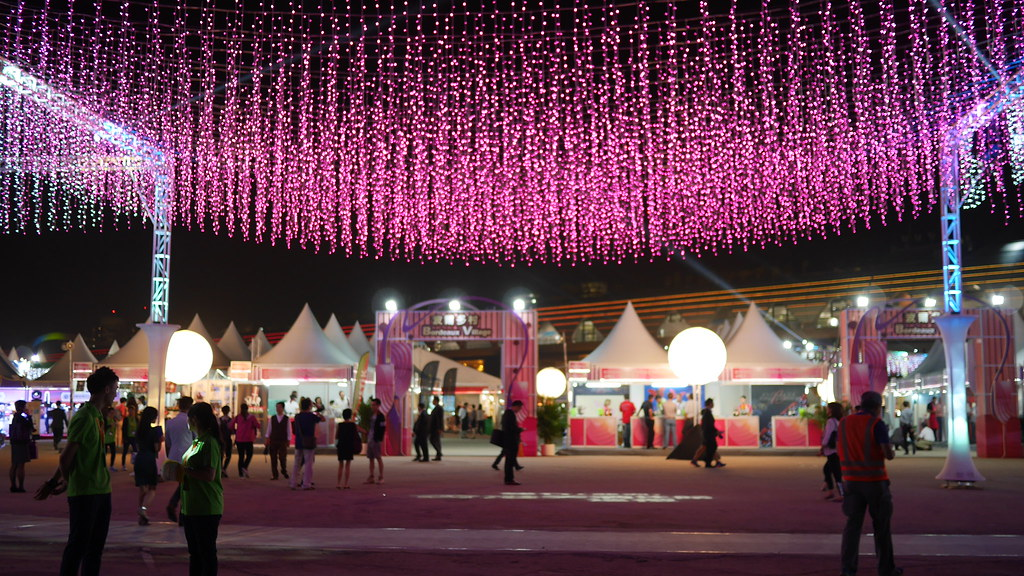 The beautiful grand entrance of the Wine & Dine Festival venue