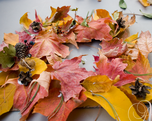 how to fall wreath craft leaves leaf utah provo orem