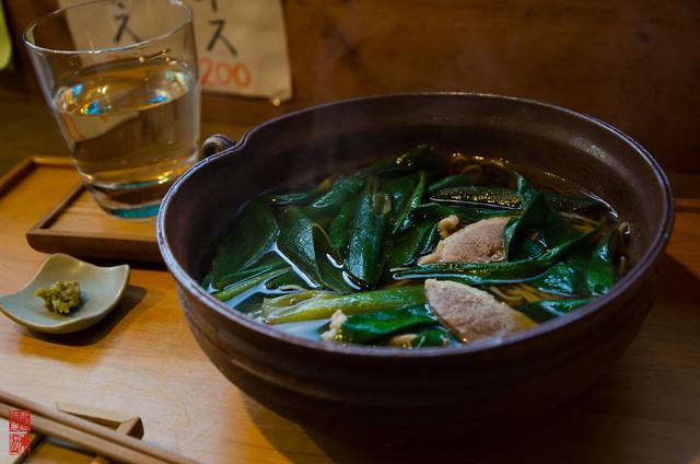 「鴨入り ねぎ蕎麦」 仁和寺 - 京都