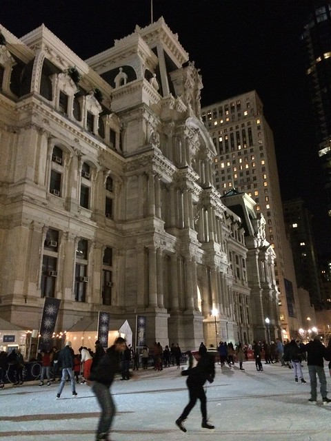 Ice rink at Philadelphia City Hall